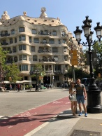 In front of La Pedrera