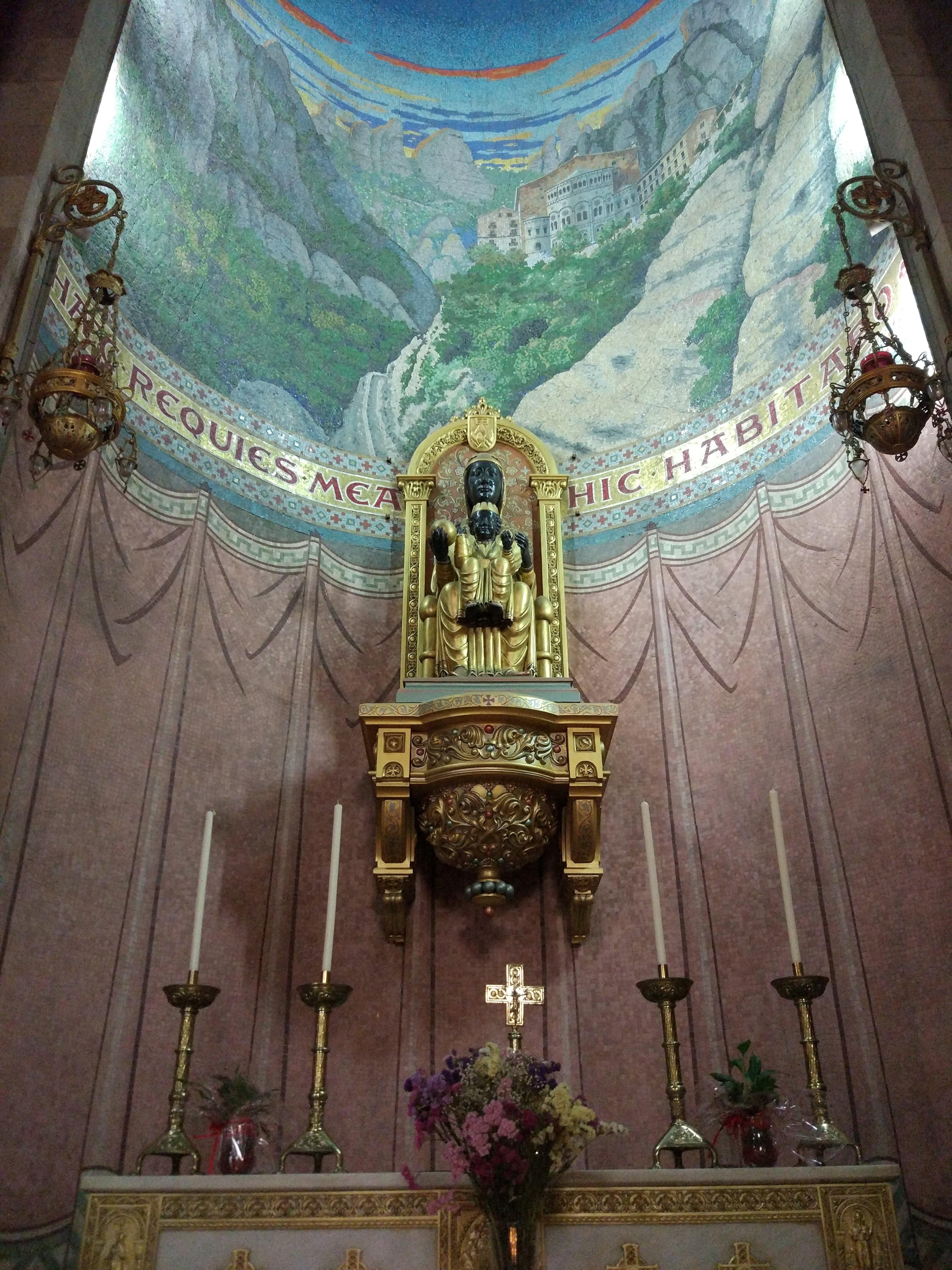The Black Madonna at Tibidabo