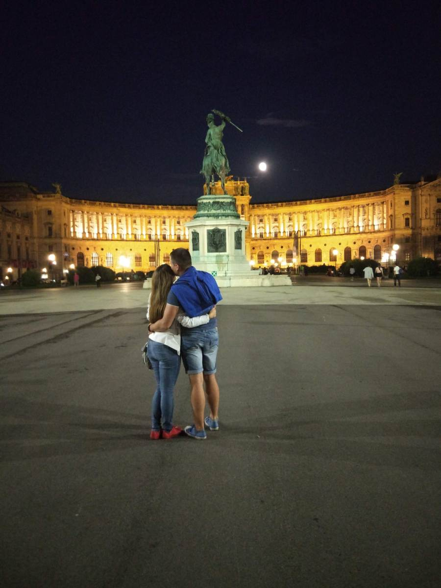 Our romantic pic in Vienna